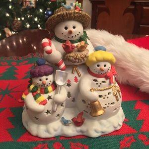 PartyLite RETIRED Snowbell Tealight Holder